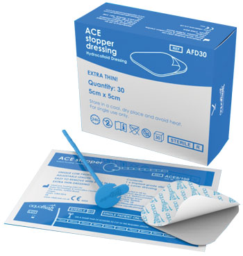 Aquaflash Adjustable ACE Stopper & Dressing distributed by New Medical, Australia