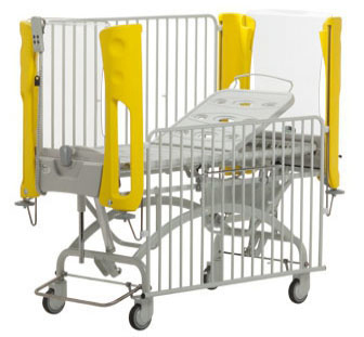 Favero Embrace Plus Electric - Two Section Paediatric Cot distributed by New Medical, Brisbane, Australia