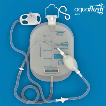 Aquaflush range of Irrigation Products for patients with functional bowel emptying problems.